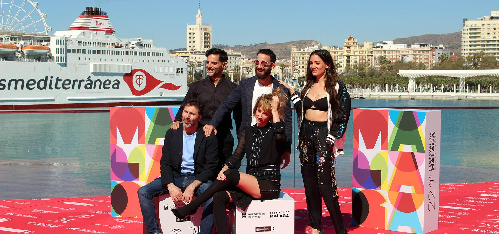 Elenco de 'Taxi a Gibraltar' en el Festival de Málaga