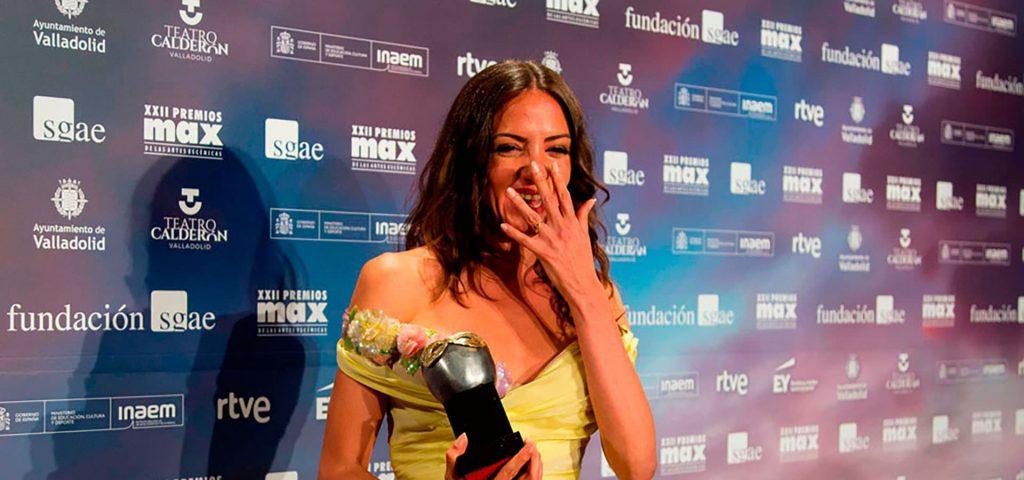 María Hervás en photocall Premios Max