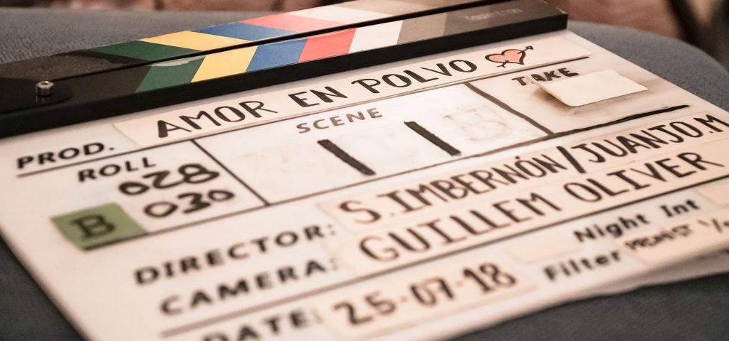 Claqueta de la película 'Amor en polvo'