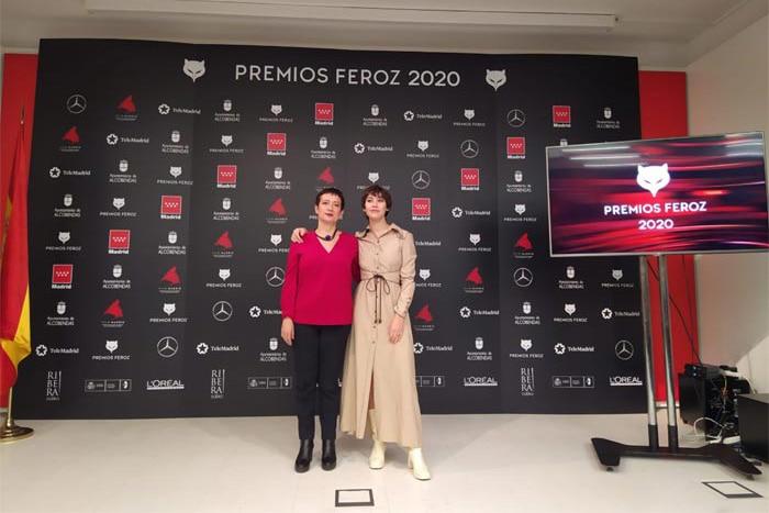 María Guerra y Greta Fernández en la lectura de los nominados a los Premios Feroz 2020