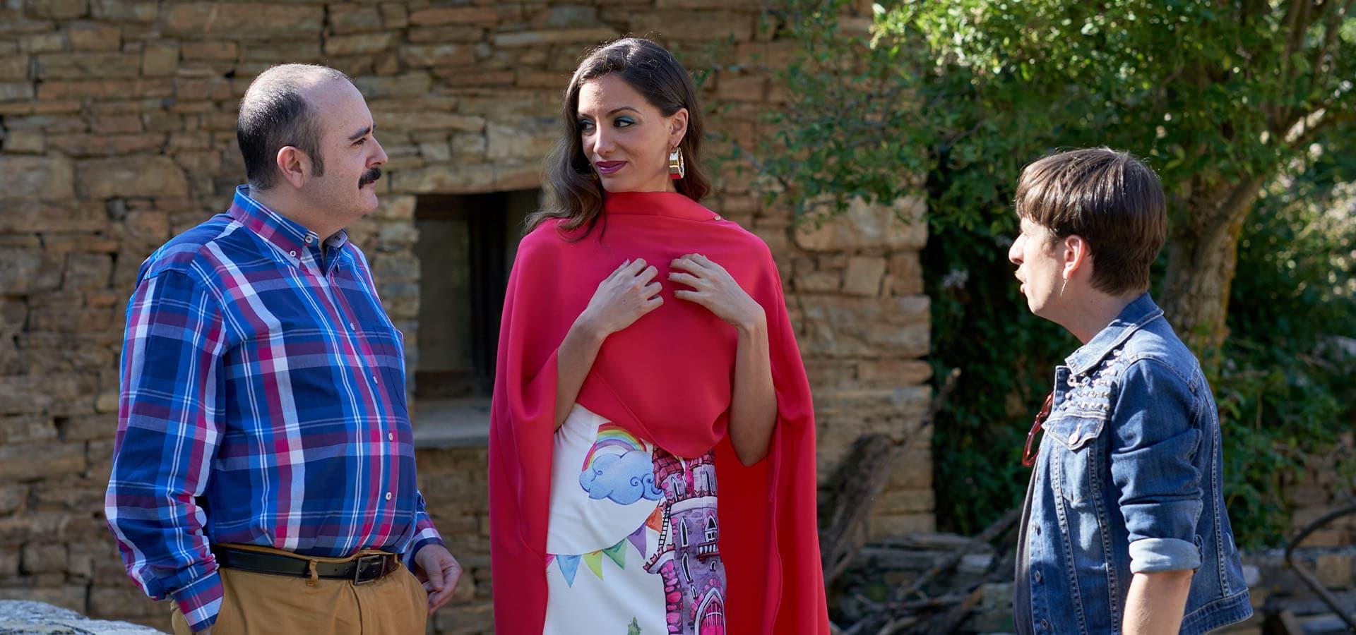 Carlos Areces, María Hervás y Jordi Vilches en rodaje