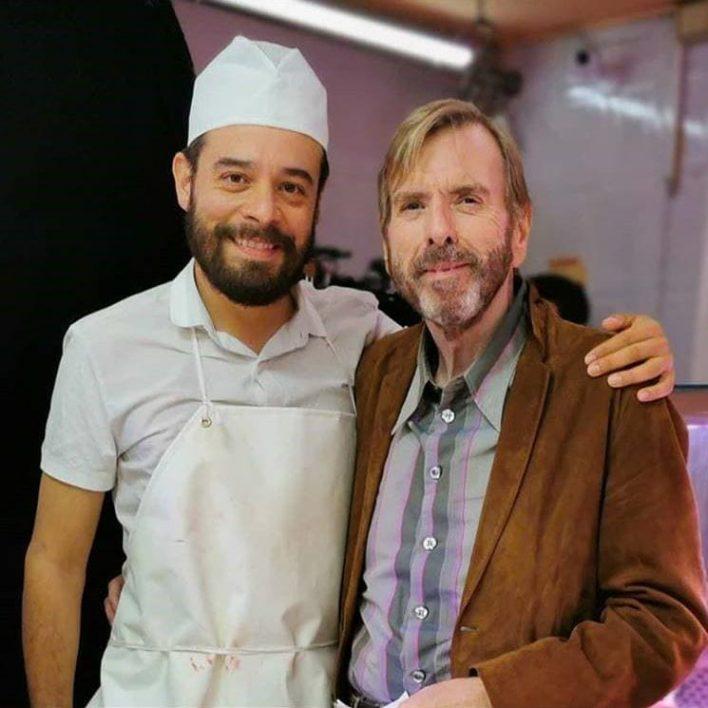 Leonardo Ortizgris y Timothy Spall
