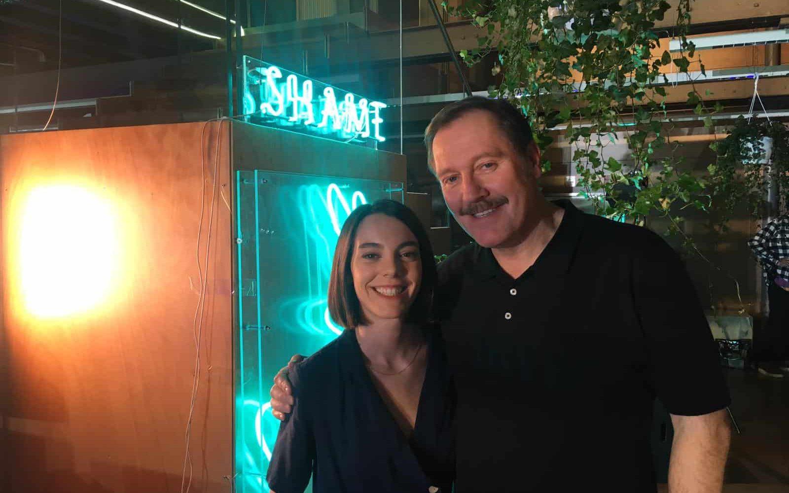 Vicky Luengo y Frank Feys