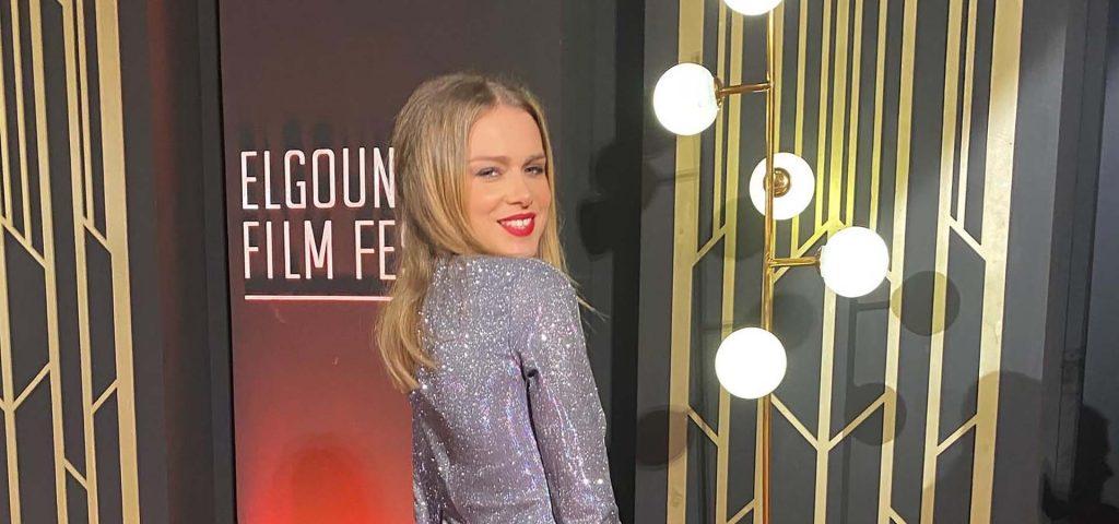 Carla Nieto en la alfombra roja de El Gouna Film Festival
