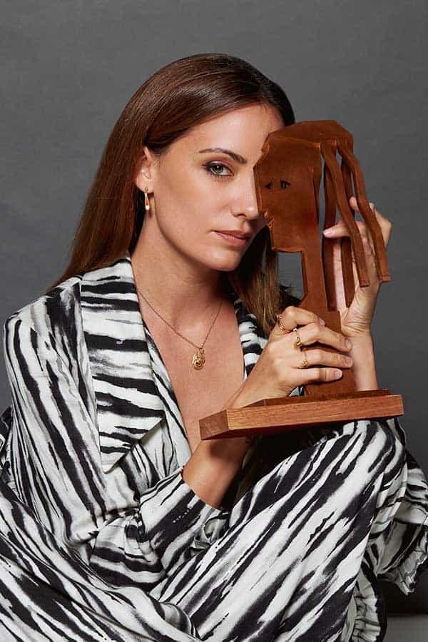Maria Hervás con el Premio Fotogramas de plata